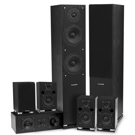 Classic Elite Series High Definition 7.0 Surround Sound Home Theater Speaker System- Black by