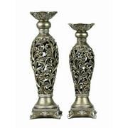 D'lusso Designs Lucrezia 2 Piece Candlestick Set