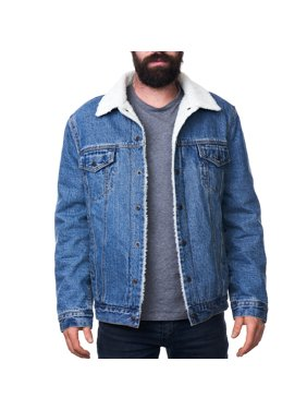 45a2681135058 Product Image Alpine Swiss Mens Sherpa Lined Denim Jacket Classic Button Up  Jean Trucker Coat