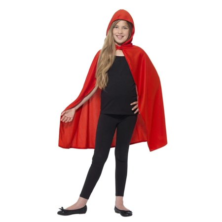 Red Riding Hood Capes (Child Red Hooded Cape Little Riding Hood Costume Cloak Girls Youth)