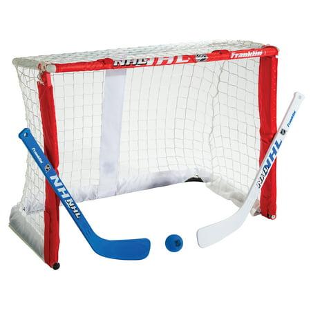 Plastic Outdoor Hockey Set (Franklin Sports Fold-N-Go Mini Hockey Goal Set)