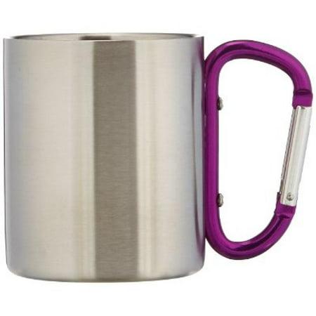 Image of Outdoor RX Stainless Steel Carabiner Mug (Purple, 8-Ounce) - Aloe Gator