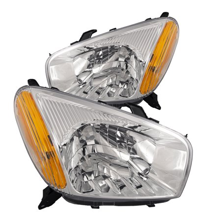 2001-2003 Toyota Rav4 New Headlights Set Driver Left Passenger Right Halogen Headlamps w/o Sports Package Pair Assembly TO2502143 & TO2503143