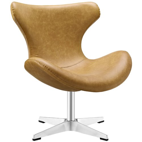 Modway Helm Vinyl Lounge Chair