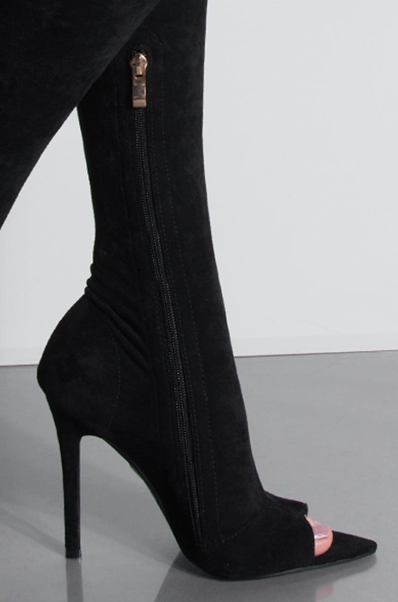 565a00aceb98 AZALEA WANG - AZALEA WANG Need A Girl Like You Stiletto Open Toe Thigh High  Boot - Walmart.com