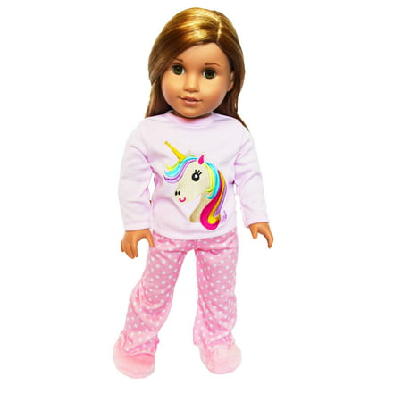My Brittany's Unicorn Pjs for American Girl Dolls, My Life as Dolls and Our Generation Dolls- 18 Inch Doll Clothes- Doll is not included (Brittany Doll)