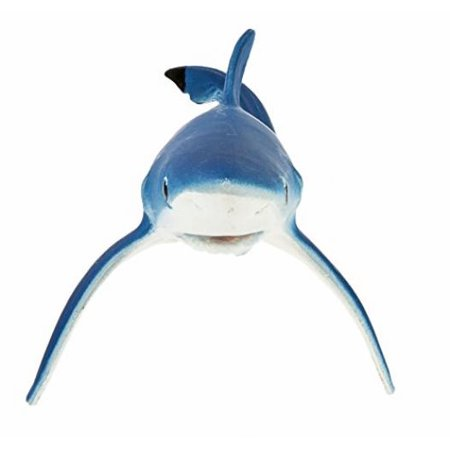 Safari Ltd Monterey Bay Aquarium Sea Life - Blue Shark - Realistic Hand Painted Toy Figurine Model - Quality Construction from Safe and BPA Free Materials - For Ages 3 - Great White Shark Toys