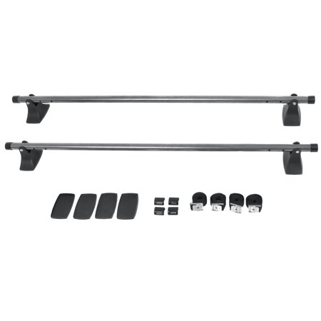 Best Choice Products 48in Adjustable Crossbar Car Top Roof Cargo Luggage Rack Kayak Roof Rack Attachment