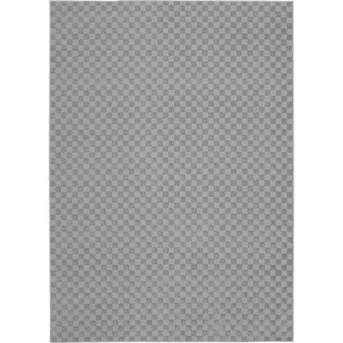 Nourison Living Necessities Machine Tufted Icy Silver Area Rug