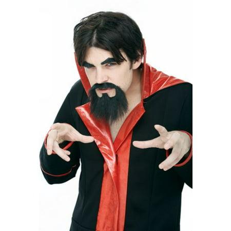 Adult Black Mustache Goatee Devil Set](Devil Mustache)