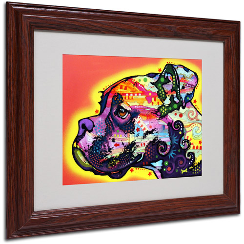 "Trademark Fine Art ""Profile Boxer"" Canvas Art by Dean Russo, Wood Frame"