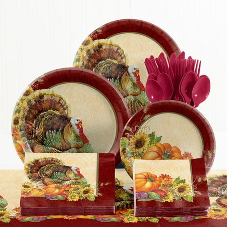 Regal Turkey Thanksgiving Tableware Kit - Walmart.com