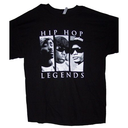 Tupac Shakur 2Pac Biggie Big Easy E Hip Hop Legends Hip Hop T-Shirts - Medium Size  - Gifts