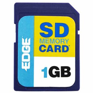 EDGE MEMORY PE197230 1GB SECURE DIGITAL CARD SD