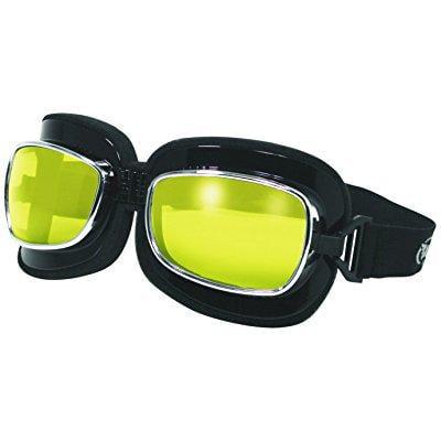 Global Vision Eyewear Retro Joe Goggle Series Sunglasses with Yellow Tint Lenses and Spring Hook (Sunglasses Hook)