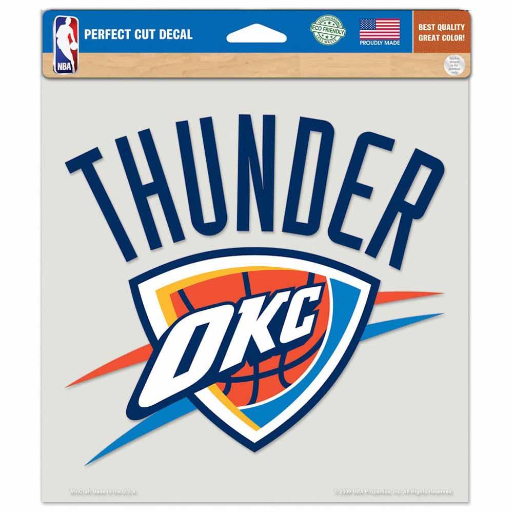"""Oklahoma City Thunder Die-cut Decal - 8""""x8"""" Color"""
