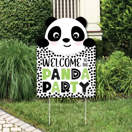 Panda Bear Party Decorations (Party Like a Panda Bear - Party Decorations - Baby Shower or Birthday Party Welcome Yard)