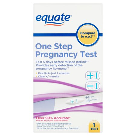equate one step pregnancy test. Black Bedroom Furniture Sets. Home Design Ideas