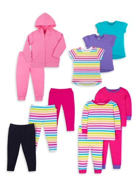 Little Star Organic Baby Toddler Girl True Brights Kids Pack, 12 Pc