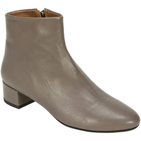 9cb3dcd8075 Round toe Leather-wrapped block heel Inside zipper. Women s Summit White  Mountain Jordie Ankle Boot