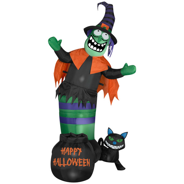 Halloween Yard Decoration Animated Wobbling Festive Witch Outdoor Party Prop