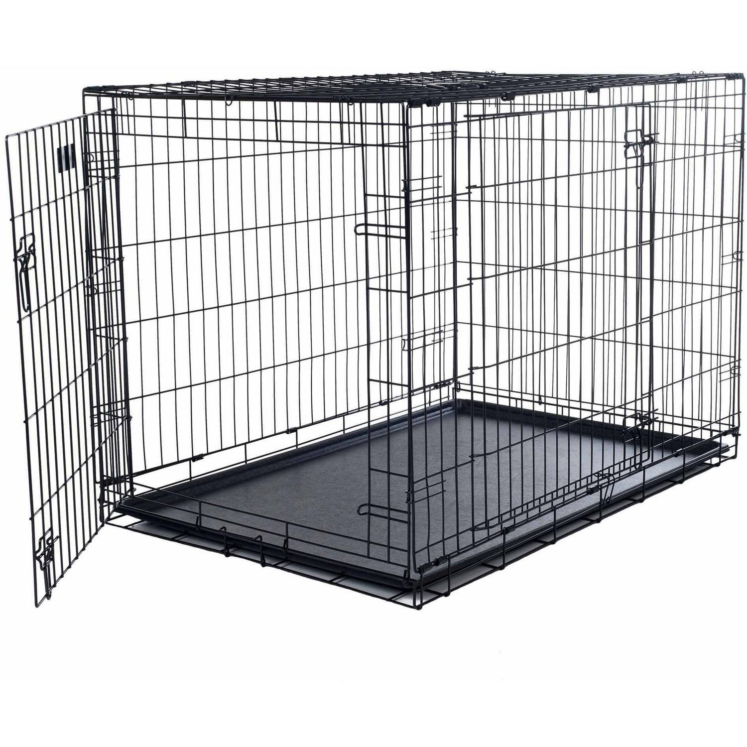 Petmaker Small 2 Door Foldable Dog Crate Cage Walmart
