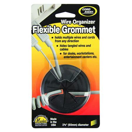 CordAway® Wire Organizer Grommet, Flexible, 2-3/8