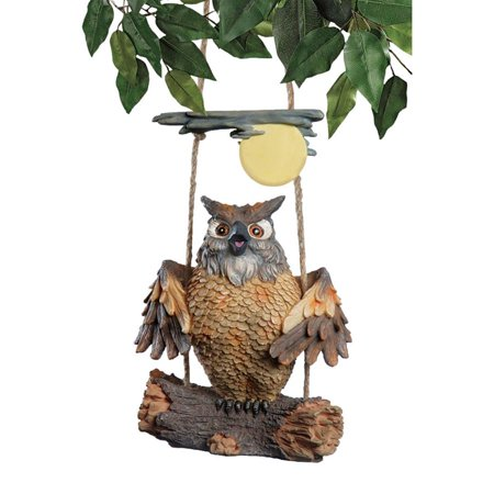 Howie the Hoot Owl Swinging Sculpture - Howie Feltersnatch