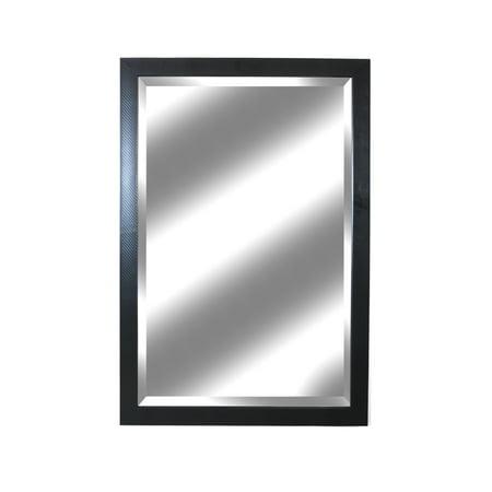 Ebony Classic Carbon Fiber Woven Wall Mirror, 26.5