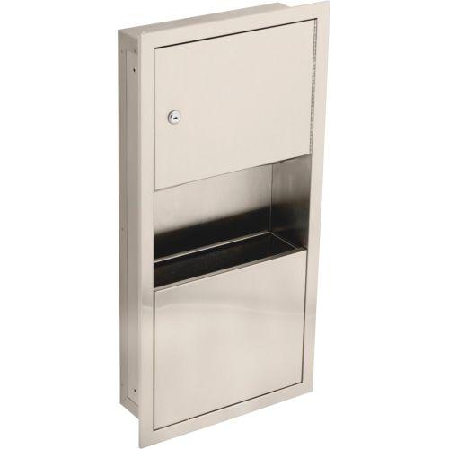Delta 45568 Recessed Towel Dispenser with Waste Receptacle