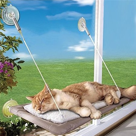 Cat Window Perch Seat Bed Hammock Basking Cat Pads can be disassembled and washable (Window Seats For Cats)
