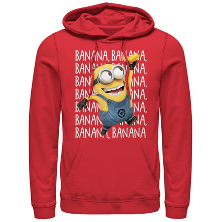 Minion Hoodie (Despicable Me Men's Minions Banana Repeat)