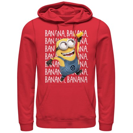 Despicable Me Men's Minions Banana Repeat Hoodie](Minion Hoodie)
