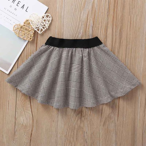 Wisremt - Summer Children Skirts Kids Girls Houndstooth Print Elastic Waist  Short Tutu Skirts Casual Dress 1-5Y Cute Toddler Girl Clothes - Walmart.com  - Walmart.com