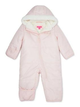 Pink Platinum Baby Girl Puffer Snowsuit Pram Bunting