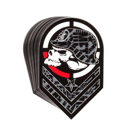"METAL MULISHA Parallel Chevron Logo Black 8"" Sticker Decal"