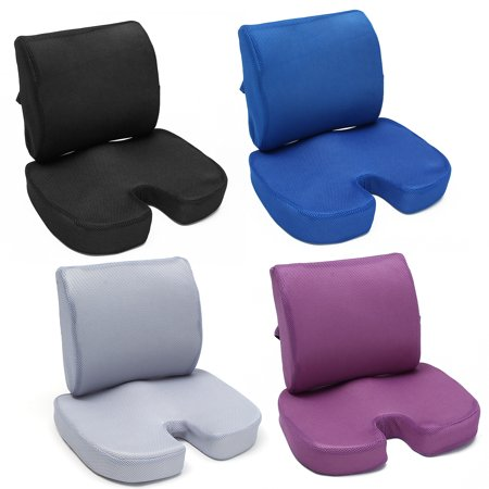Memory Foam Luxury Seat Cushion Tailbone Lumbar Back Support Seat Orthopedic Design to Relieve Back, Sciatica, Coccyx and Tailbone Pain for Office Desk Chair Desk Chair Seat Cushion