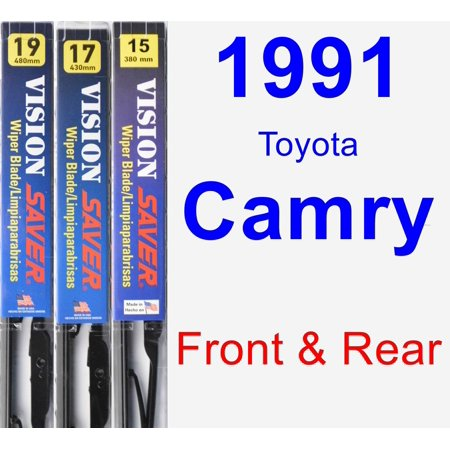 1991 Toyota Camry Wiper Blade Set/Kit (Front & Rear) (3 Blades) - Vision Saver