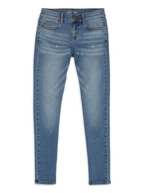 Wonder Nation Girls Printed Skinny Jeans, Sizes 5-18 & Plus