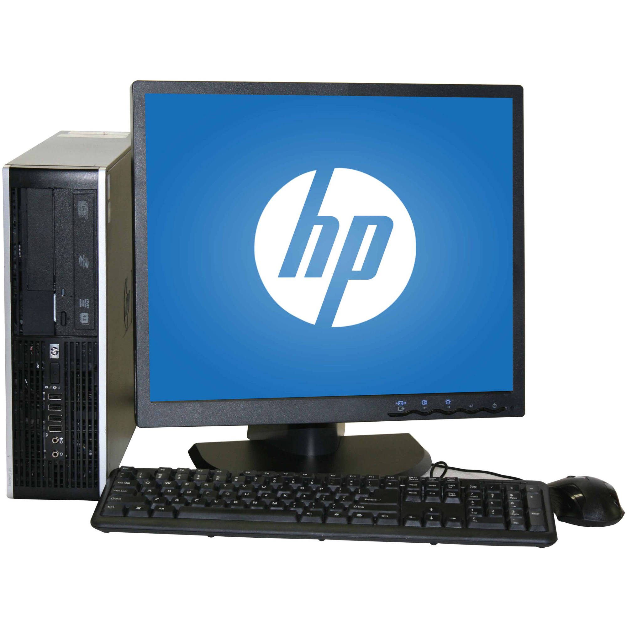 "Refurbished HP 6000 SFF Desktop PC with Intel Core 2 Duo E8400 Processor, 4GB Memory, 19"" LCD Monitor, 1TB Hard Drive and Windows 10 Home"