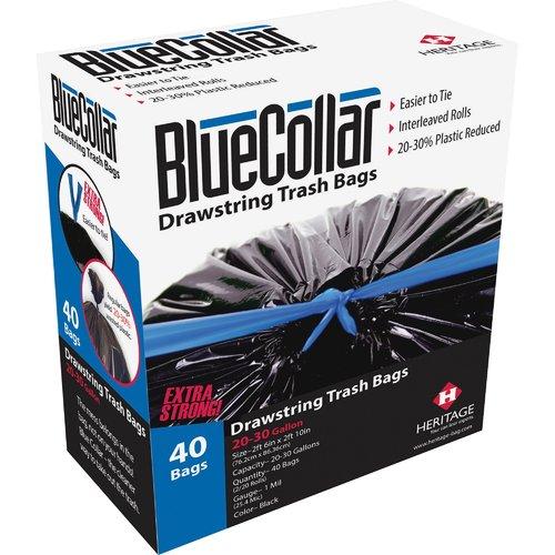 Hirsh Industries BlueCollar 13 Gal. Trash Bags, 80 Count