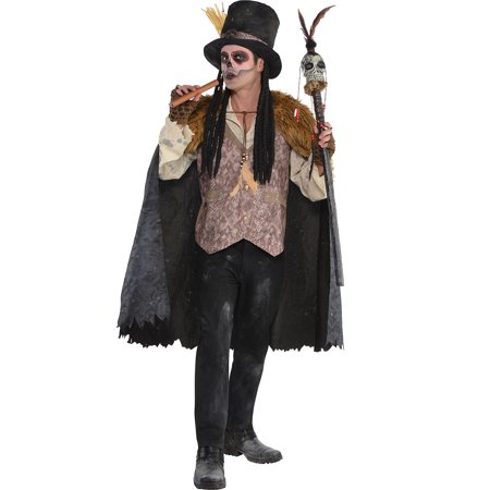 Witch Doctor Halloween Costume for Men, Standard, with Included Accessories (Halloween Music Witch Doctor)