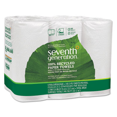 100% Recycled Paper Towel Rolls SEV13731CT