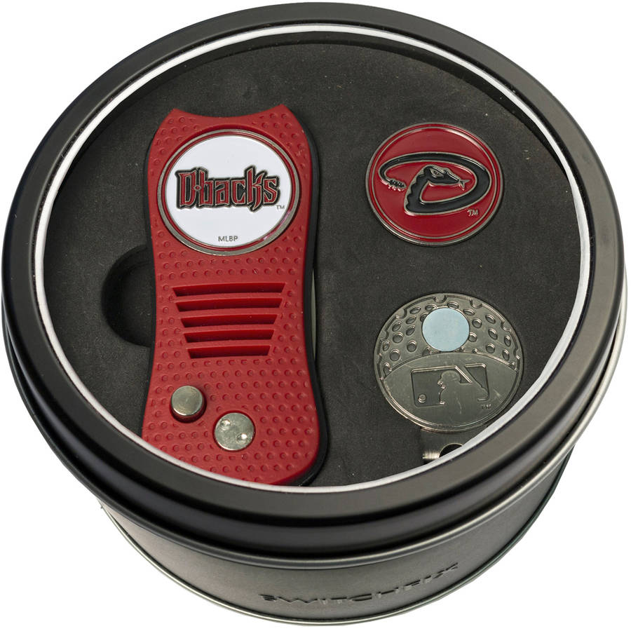 Team Golf MLB Tin Gift Set with Switchfix Divot Tool, Cap Clip and Ball Marker