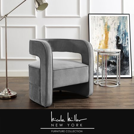 Nicole Miller Accent Chair Design Zaire Velvet