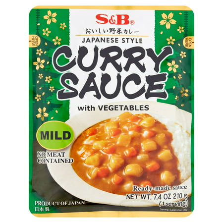 (3 Pack) S&B Mild Curry Sauce with Vegetables, 7.4