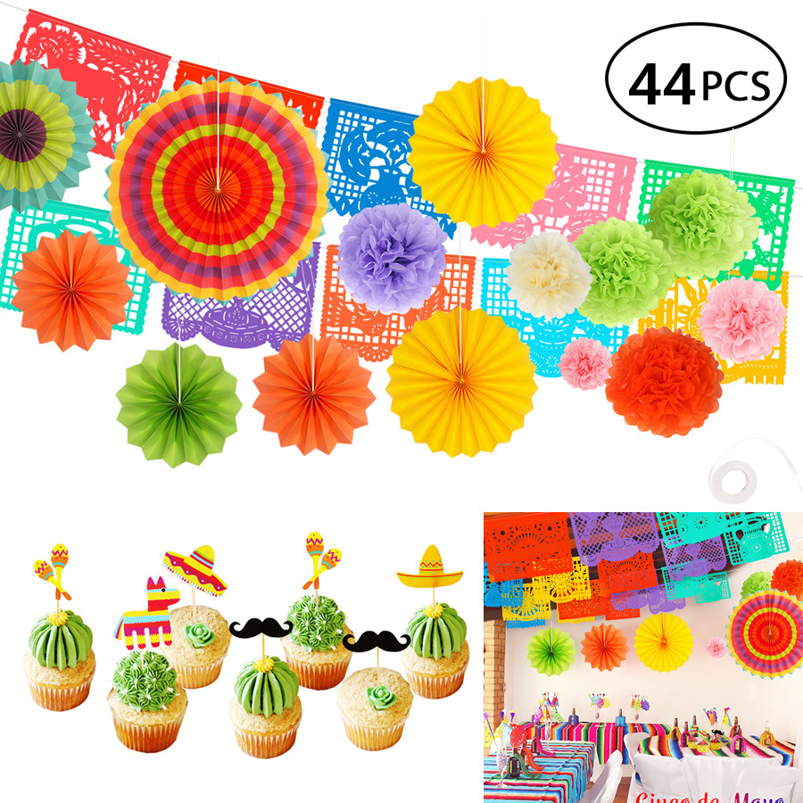 Mexican decor Fiesta decorations Mexican Table Runner 9x1ft mexican party decorations XXL 49pcs Fiesta Party Decoration mexican birthday party decorations final fiesta Cinco De Mayo