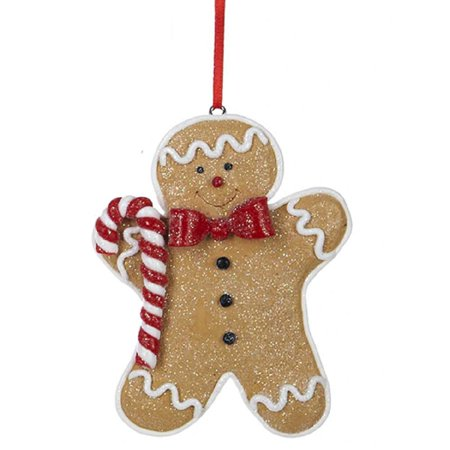 Gingerbread Man With Candy Cane Christmas Tree Ornament New ()