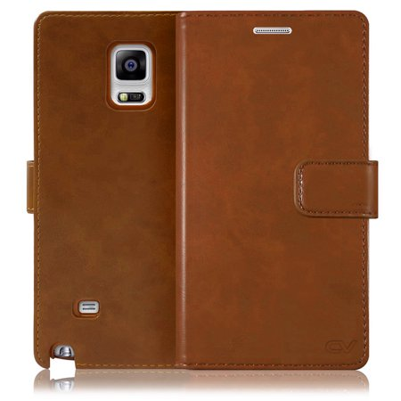 Galaxy Note 4 Case, Cellularvilla [Slim Fit] [Stand feature] Diary Style Premium PU Leather Flip Wallet Case [Card Slot] Protective Shell Cover For Samsung Galaxy Note 4 SM-N910S / N910C