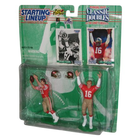 NFL Football Starting Lineup Classic Doubles Dwight Clark & Joe Montana Figure Set ()